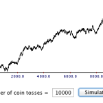 random equity curve from coin toss