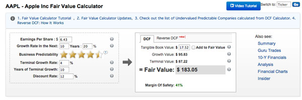 Apple DCF calculator