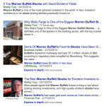 warren buffett stocks news articles