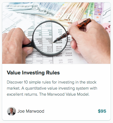 value investing rules course