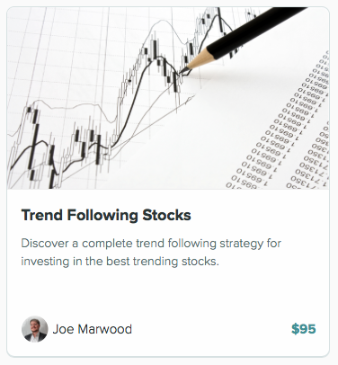 Trend following course for stocks