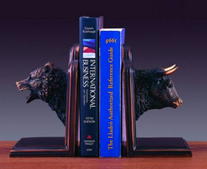 bull and bear bookends amazon