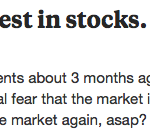 is now a bad time to invest in stocks?