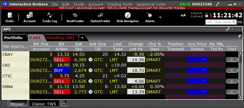auto trading with amibroker and interactive brokers